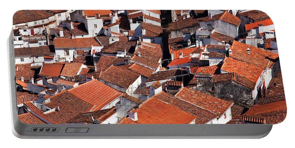 Cityscape Portable Battery Charger featuring the photograph Medieval Town Rooftops by Jose Elias - Sofia Pereira