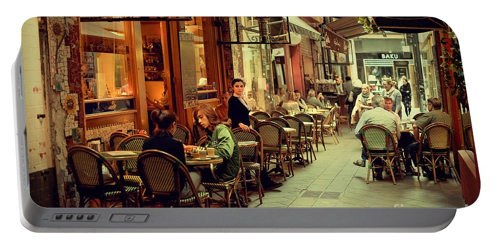 Al Fresco Dining Portable Battery Charger featuring the photograph Memory Lane by Ray Warren