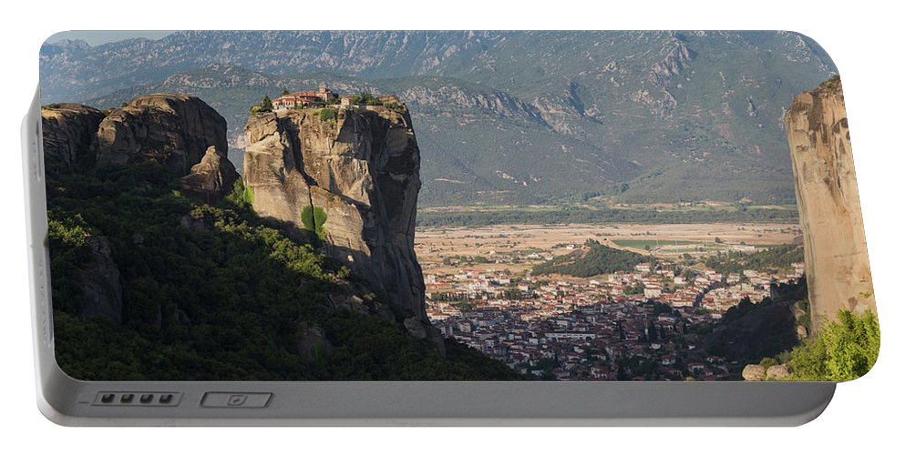 Photography Portable Battery Charger featuring the photograph Meteora, Thessaly, Greece. The Eastern by Panoramic Images