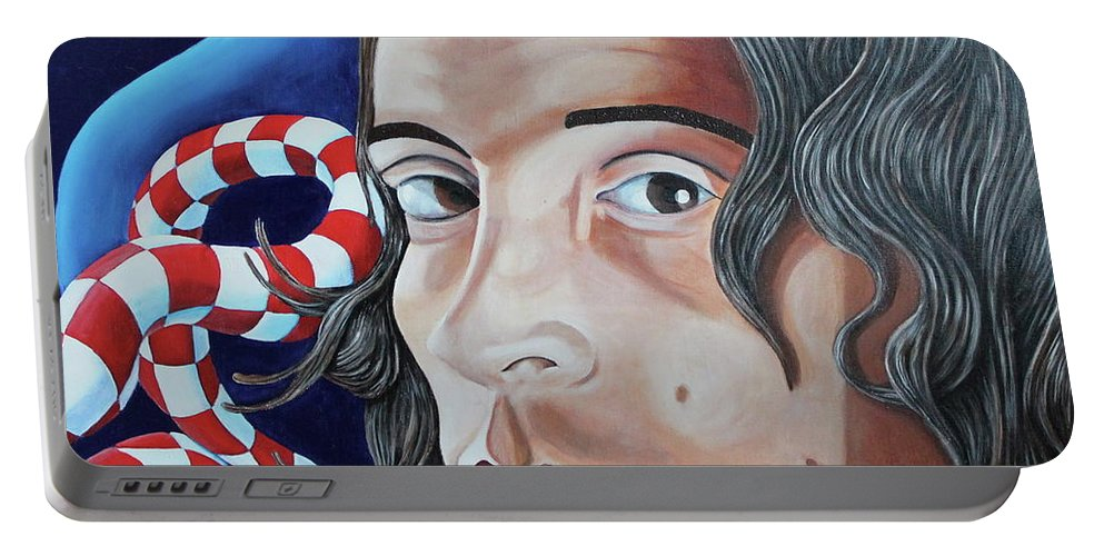 Mike Martinelli Portable Battery Charger featuring the painting Michael by Don Martinelli