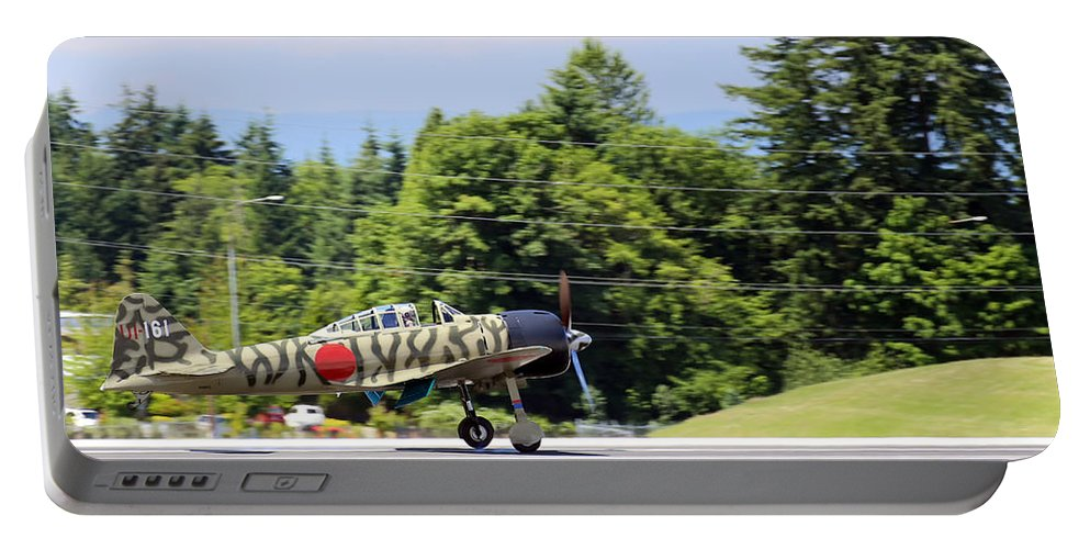 War Portable Battery Charger featuring the photograph Mitsubishi A6m3-22 Reisen Zero by Paul Fell