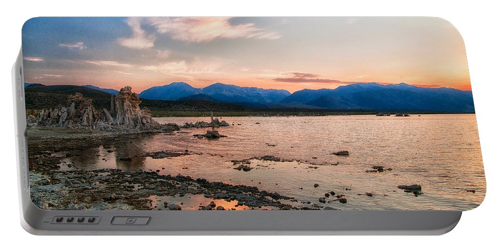 Lake Portable Battery Charger featuring the photograph Mono Lake Sunset by Cat Connor