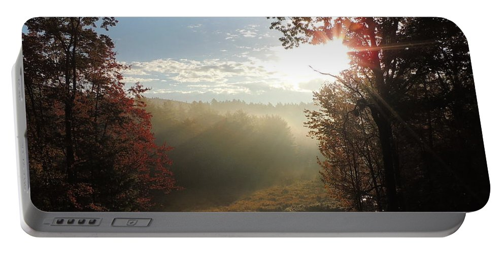 Morning Portable Battery Charger featuring the photograph Morning Glory by Mim White
