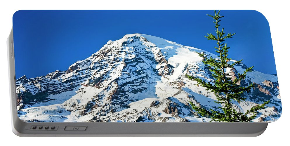 Northwest Portable Battery Charger featuring the photograph Mt Rainier by Albert Seger