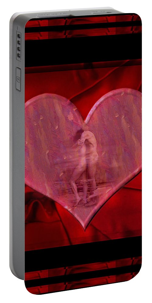 Nude Portable Battery Charger featuring the photograph My Hearts Desire by Kurt Van Wagner