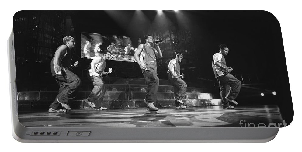 Justin Timberlake Portable Battery Charger featuring the photograph N Sync by Concert Photos