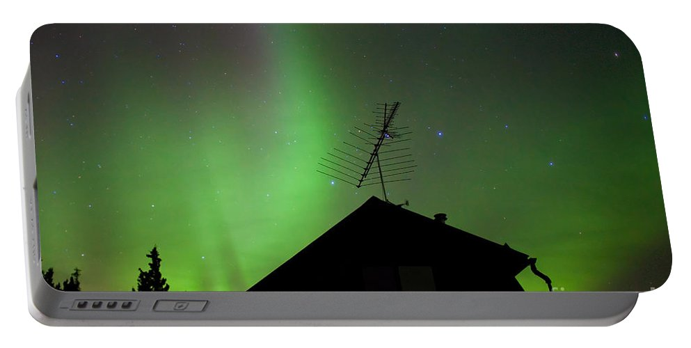 Above Portable Battery Charger featuring the photograph Northern Lights - Aurora Borealis - Substorm by Stephan Pietzko