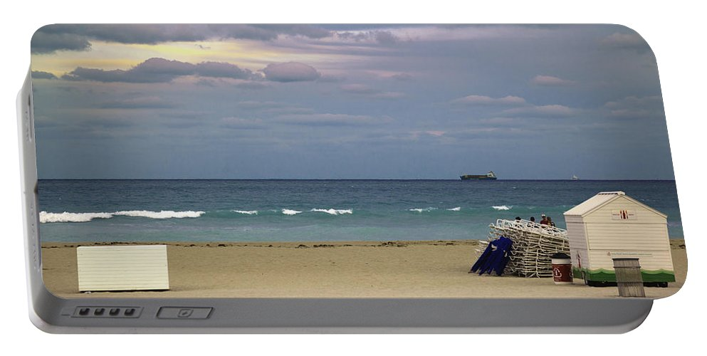 Ocean Portable Battery Charger featuring the photograph Ocean View 1 - Miami Beach - Florida by Madeline Ellis