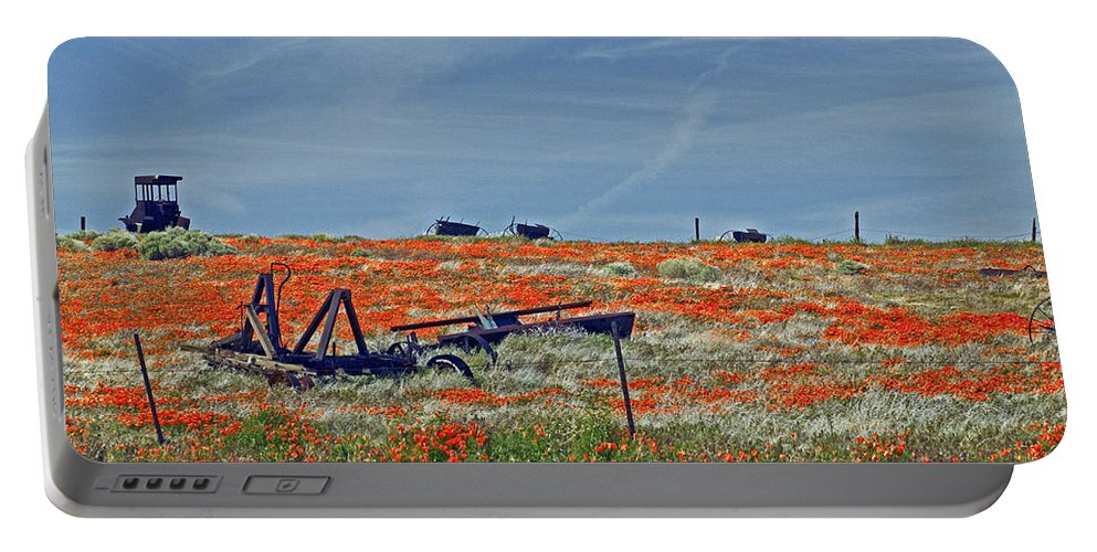 Tractor Portable Battery Charger featuring the photograph Old Farm Equipment by Howard Stapleton