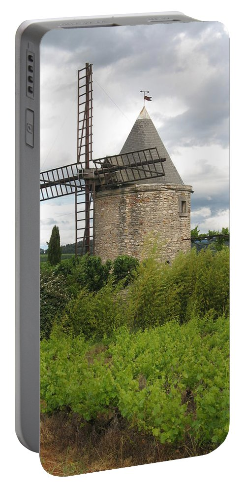 Mill Portable Battery Charger featuring the photograph Old Windmill by Christiane Schulze Art And Photography