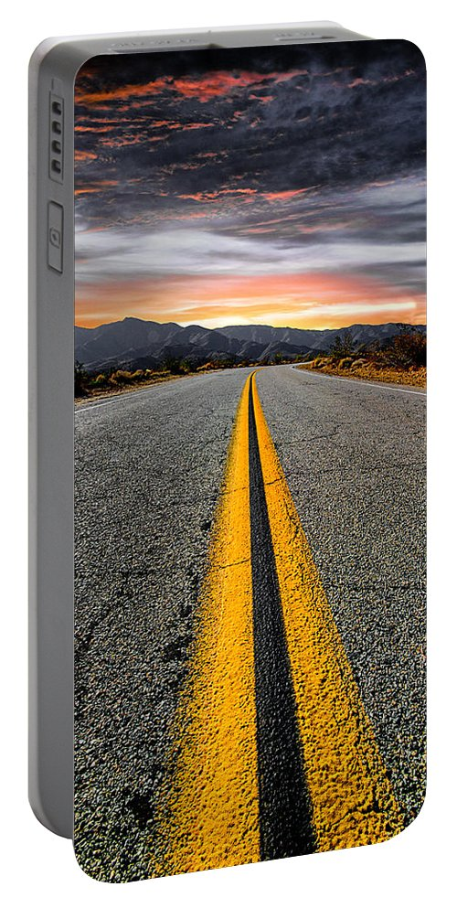 Road Portable Battery Charger featuring the photograph On Our Way by Ryan Weddle
