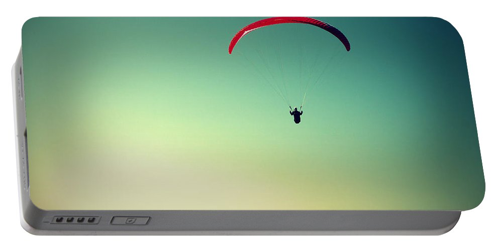 Paraglider Portable Battery Charger featuring the photograph Paraglider by Chevy Fleet