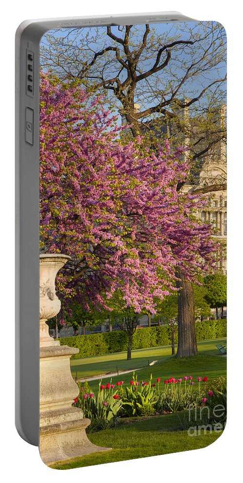 Architecture Portable Battery Charger featuring the photograph Paris Springtime by Brian Jannsen