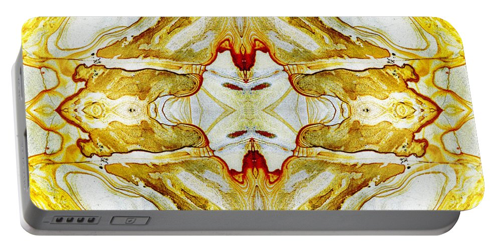 Abstract Portable Battery Charger featuring the photograph Patterns In Stone - 150 by Paul W Faust - Impressions of Light