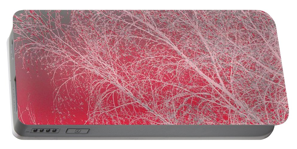 Pink Portable Battery Charger featuring the digital art Pink by Carol Lynch