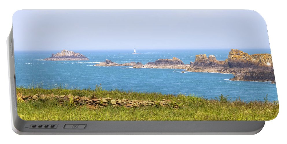 Pointe Du Grouin Portable Battery Charger featuring the photograph Pointe Du Grouin - Brittany by Joana Kruse