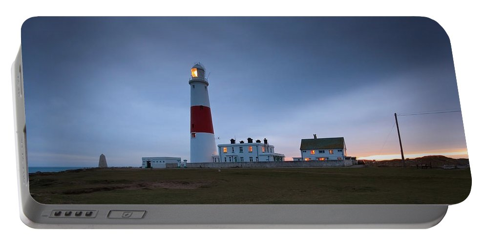 England Portable Battery Charger featuring the photograph Portland Bill Lighthouse by Milan Gonda