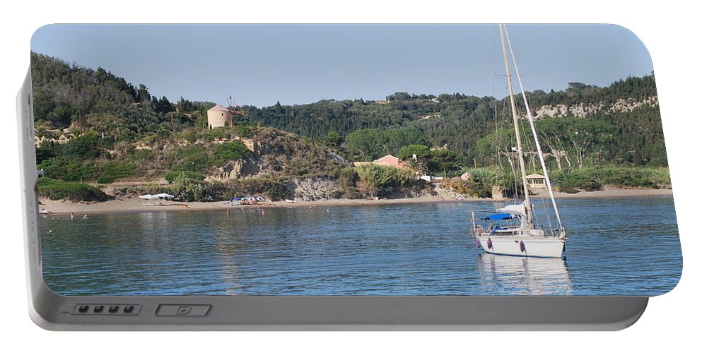 Seascape Portable Battery Charger featuring the photograph Porto Bay by George Katechis