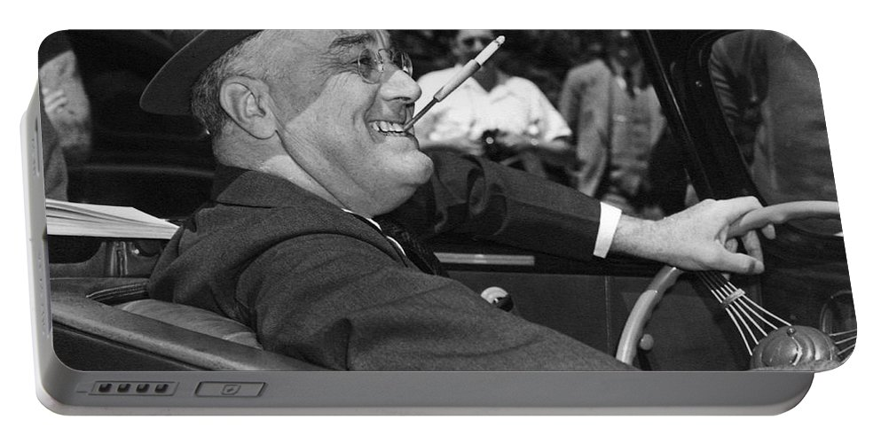 1939 Portable Battery Charger featuring the photograph President Franklin Roosevelt by Underwood Archives