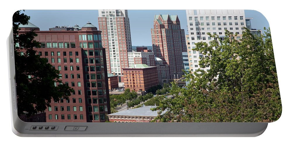 Prospect Terrace Park Portable Battery Charger featuring the photograph Providence Skyline by Bill Cobb