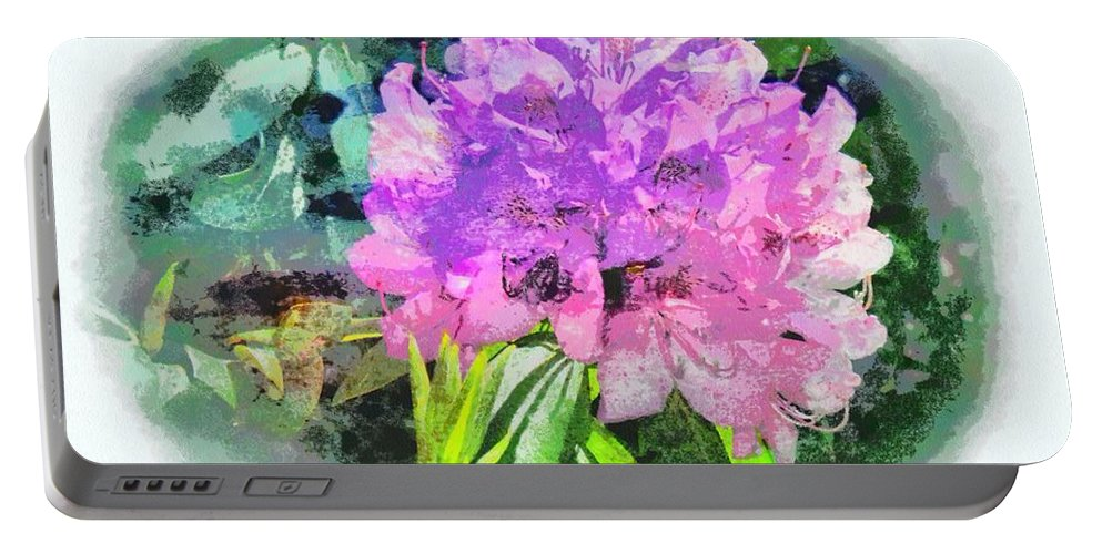 Jesus Portable Battery Charger featuring the digital art Psalm 28 7 by Michelle Greene Wheeler