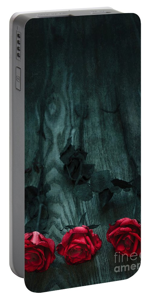 Art Portable Battery Charger featuring the photograph Red Roses by Svetlana Sewell