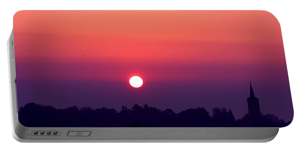 Sunrise Portable Battery Charger featuring the photograph Red Sky by Heike Hultsch