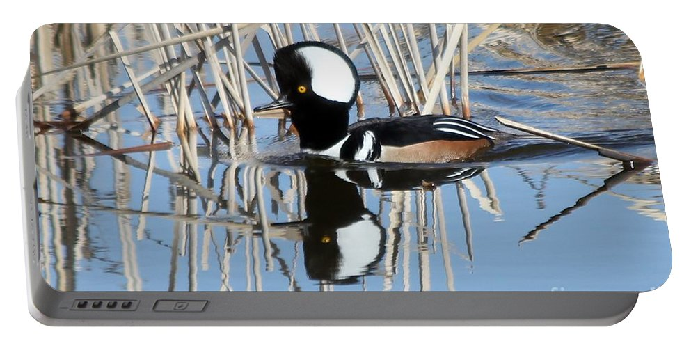 Hodded Portable Battery Charger featuring the photograph Reflections by Lori Tordsen