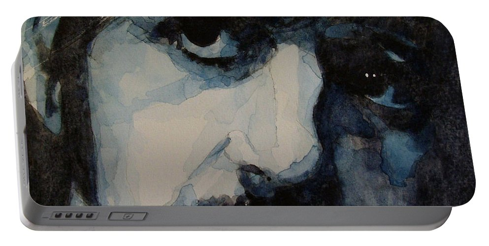 Ringo Starr  Portable Battery Charger featuring the painting Ringo by Paul Lovering