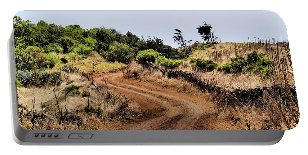 Hierro Portable Battery Charger featuring the photograph Road On Hierro by Karol Kozlowski