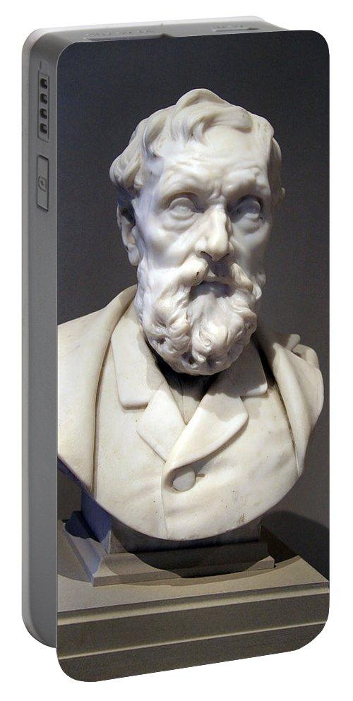 J. B. Van Berckelaer Portable Battery Charger featuring the photograph Rodin's J. B. Van Berckelaer by Cora Wandel