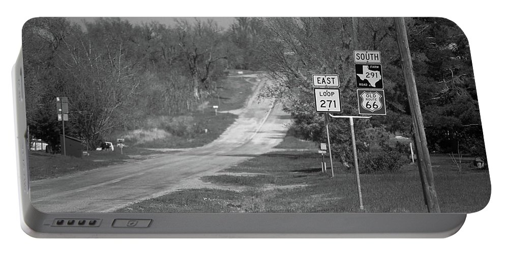 66 Portable Battery Charger featuring the photograph Route 66 - Alanreed Texas by Frank Romeo