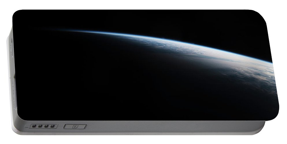 Photography Portable Battery Charger featuring the photograph Satellite View Of Planet Earth Showing by Panoramic Images