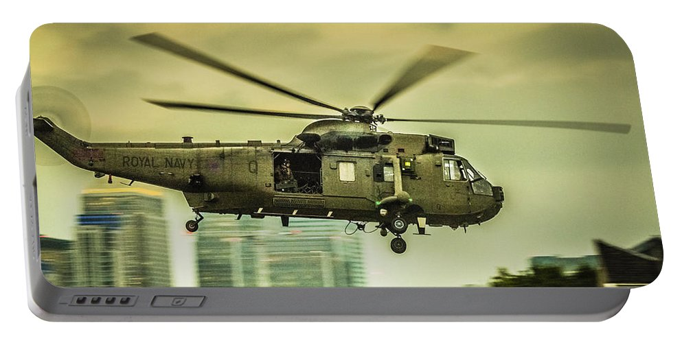 350th Anniversary Portable Battery Charger featuring the photograph Sea King Helicopter by Dawn OConnor
