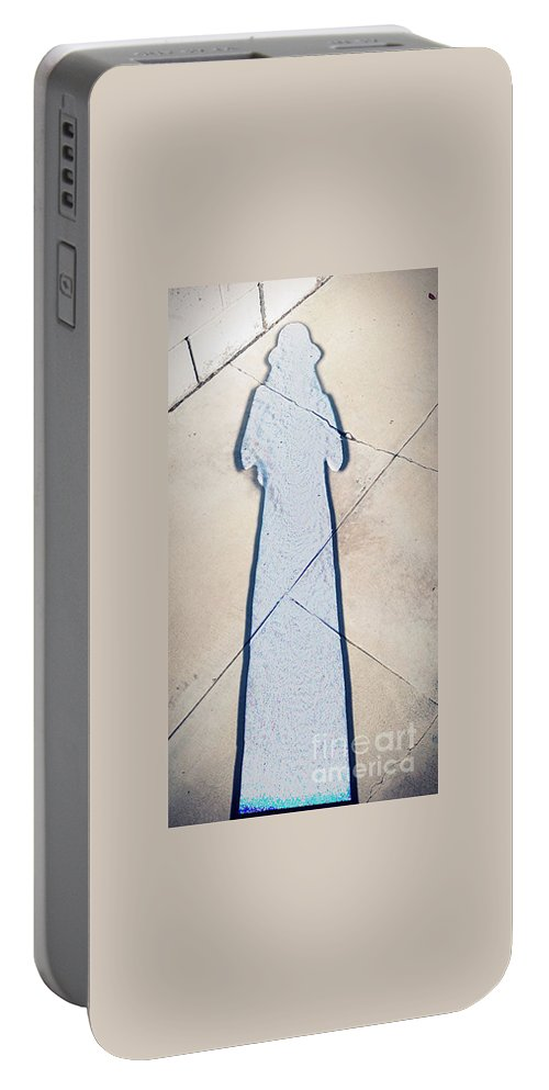 Abstract Portable Battery Charger featuring the photograph Shadow Of Life No.16 by Fei A