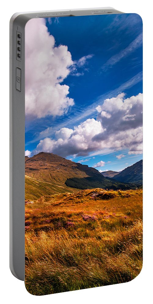 Scotland Portable Battery Charger featuring the photograph Sunny Day At Rest And Be Thankful. Scotland by Jenny Rainbow