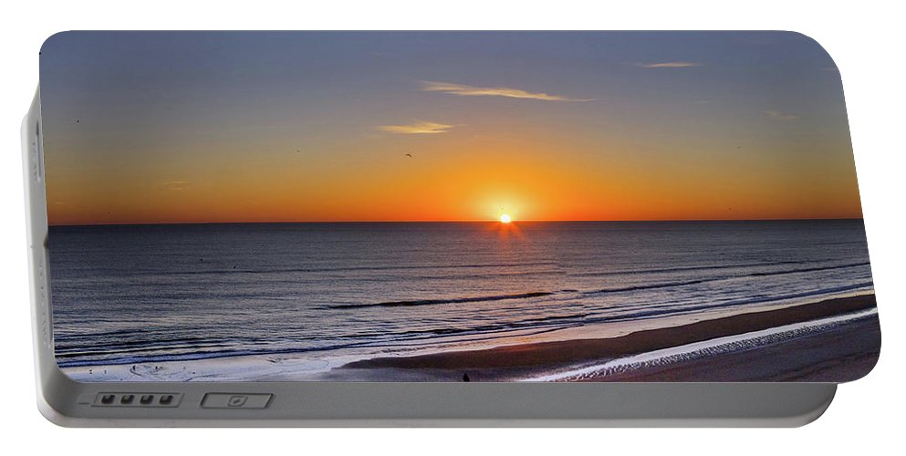 Photography Portable Battery Charger featuring the photograph Sunrise Over Atlantic Ocean, Florida by Panoramic Images