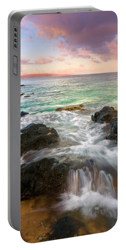 Sunrise Portable Battery Charger featuring the photograph Sunrise Surge by Mike Dawson