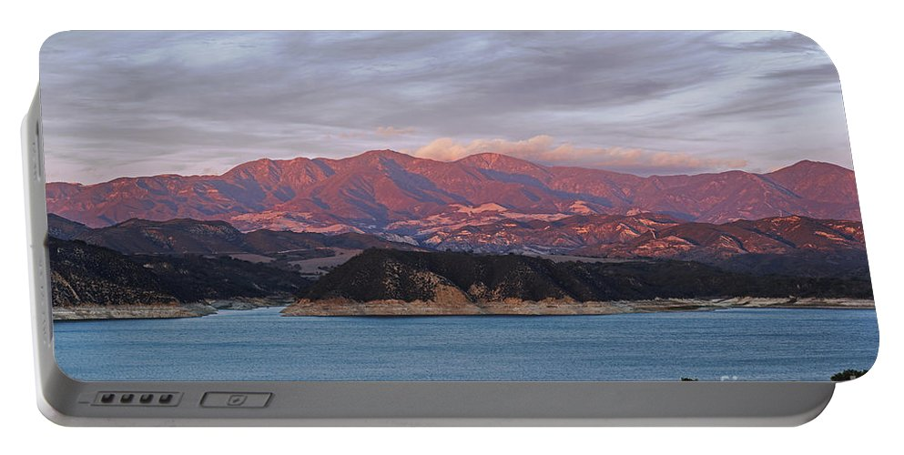 Cachuma Lake Portable Battery Charger featuring the photograph Sunset At Cachuma Lake by Yefim Bam