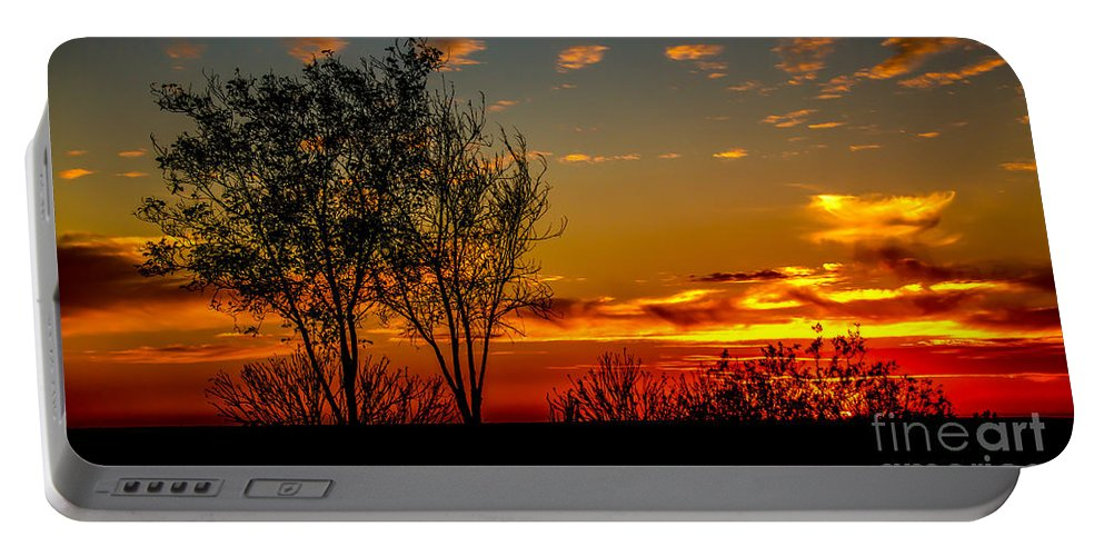 Sunrise Portable Battery Charger featuring the photograph Sunset by Robert Bales