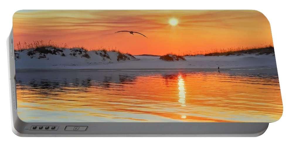 Sunset Portable Battery Charger featuring the photograph Sunswept by Janet Fikar