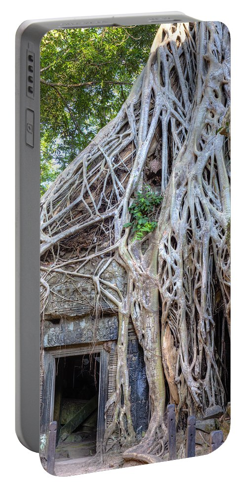 Temple Portable Battery Charger featuring the photograph Ta Prohm by Alexey Stiop