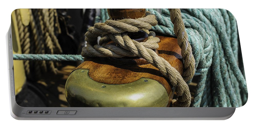 Tall Ship Portable Battery Charger featuring the photograph Tall Ship Rigging by Dale Powell