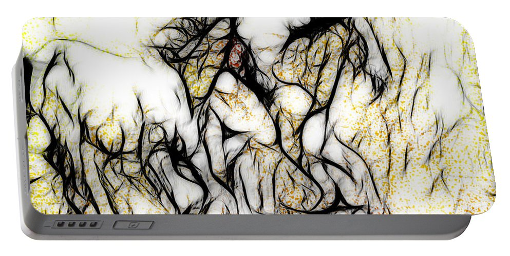 Horse Portable Battery Charger featuring the digital art Taos Autumn by Terry Fiala