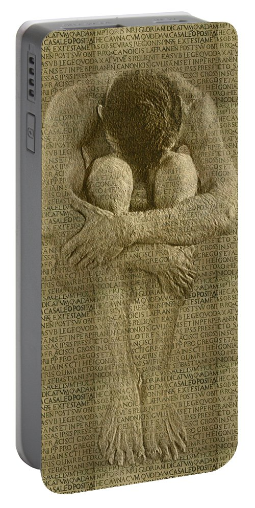Nudes Portable Battery Charger featuring the photograph The Artist by Kurt Van Wagner