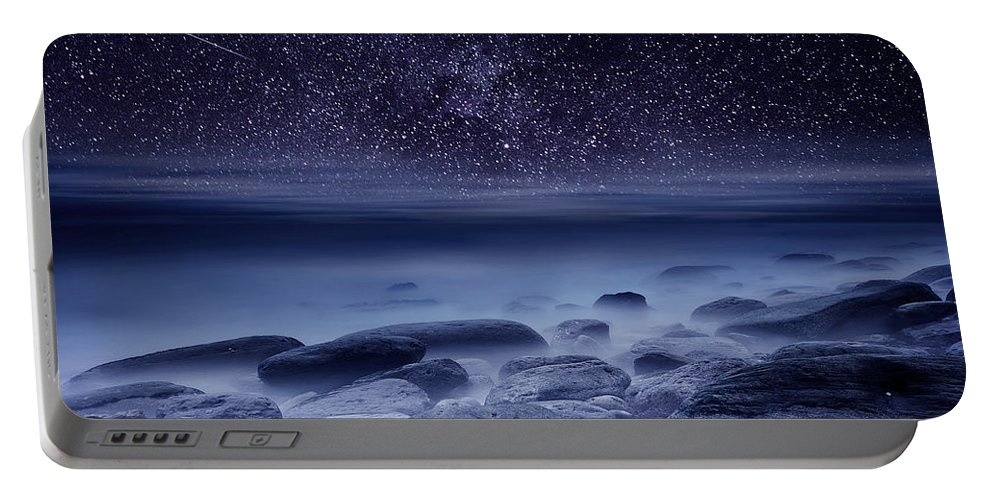 Night Portable Battery Charger featuring the photograph The Cosmos by Jorge Maia