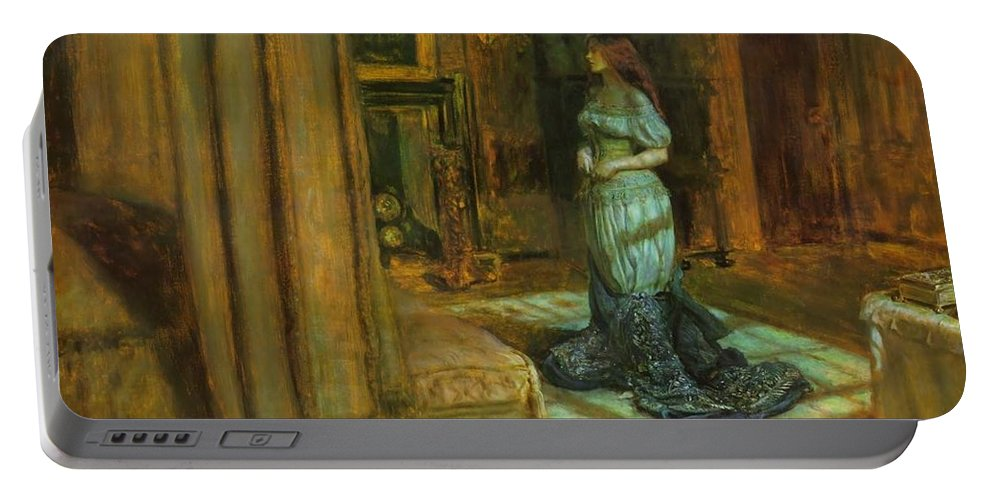 John Portable Battery Charger featuring the painting The Eve Of St Agnes by Philip Ralley