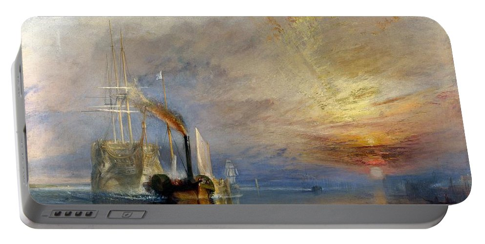1839 Portable Battery Charger featuring the painting The Fighting Temeraire by JMW Turner