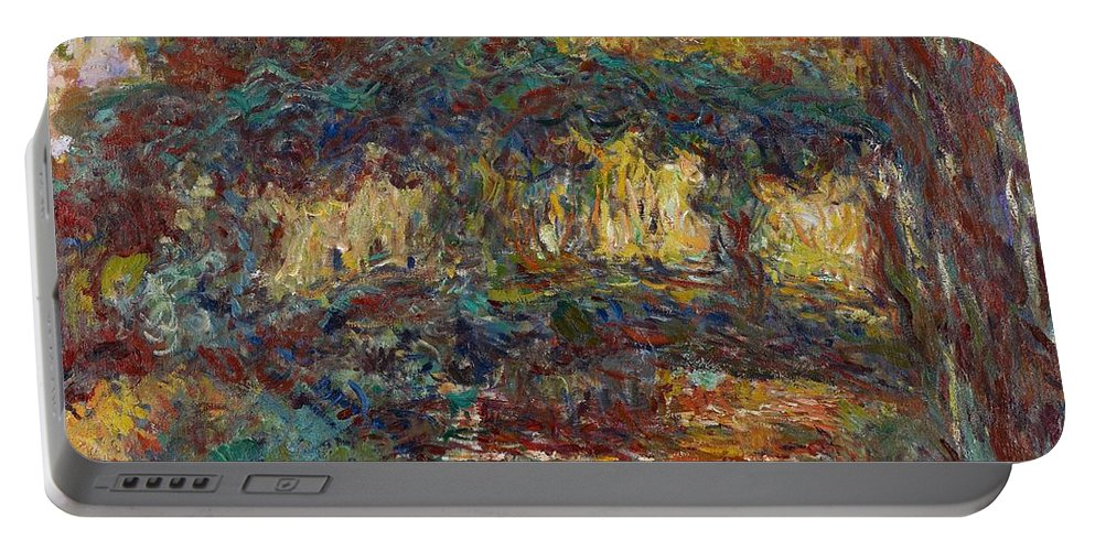 French Portable Battery Charger featuring the painting The Japanese Bridge by Claude Monet