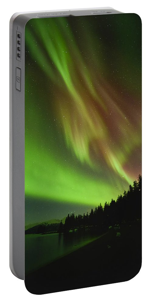 Aurora Portable Battery Charger featuring the photograph The Leaning Tower by Ted Raynor